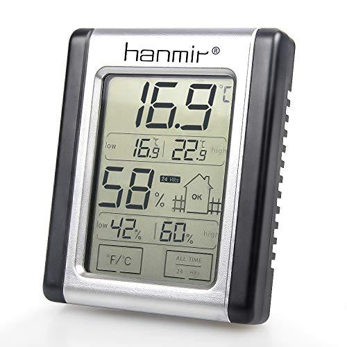 Asika デジタル温湿度計 室内温度計 高精度 小型 最高最低温湿度値表示 LCD大画面 マグネット付 置き掛け両用 操作簡単 肌の潤い インフル対策用 健康管理 熱中症予防