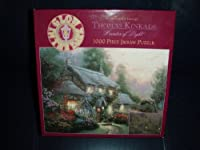 Thomas Kinkade Glow in the Dark Puzzle-Julianne's Cottage By Ceaco [並行輸入品]