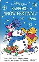 テレホンカード テレカ ディズニー ©Disney SAPPORO SNOU FESTIVAL 1998 さっぽろ雪まつり 50度数