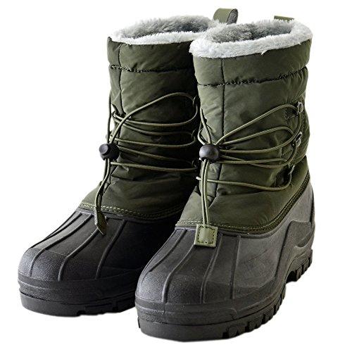 (アルージェ) ARUGE スノーブーツ 裏ボア 防水ブーツ レインブーツ ウインターブーツ / P4U / M25 カーキ