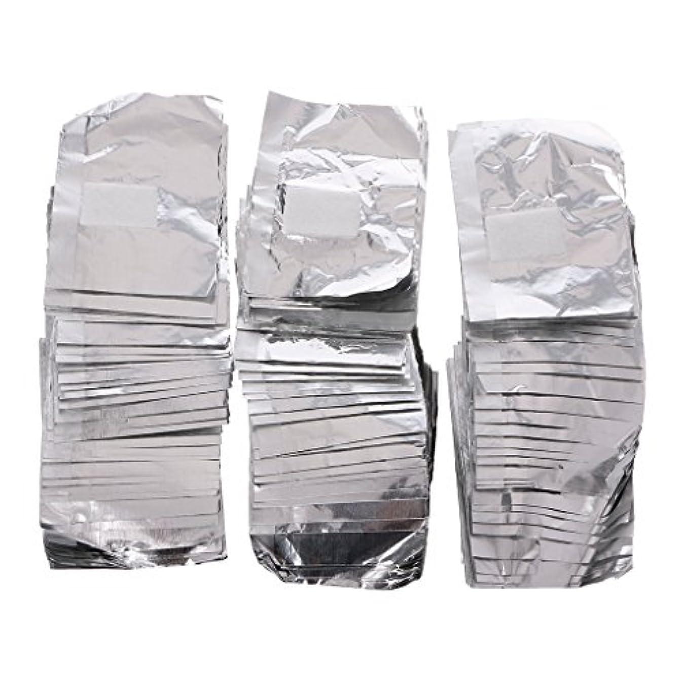 砂利マイナスシュガージャッキーネイルアートアンロード錫箔150Pcピースアルミ箔ネイルアートソークオフアクリルジェルポリッシュネイルラップリムーバー