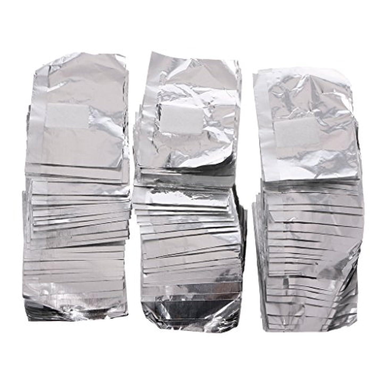 統治可能近似行うジャッキーネイルアートアンロード錫箔150Pcピースアルミ箔ネイルアートソークオフアクリルジェルポリッシュネイルラップリムーバー