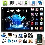 FidgetFidget カーラジオステレオ MP5 クアッドコア 3G WiFi ダブル2DIN プレーヤー GPS FM 7インチ Android 7.1