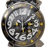 GAGA MILANO 6054.6 CHRONO 48MMガガミラノ ユニセックス 腕時計 ステンレス ラバーベルト【並行輸入品】