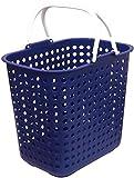 平和工業 ランドリー バスケット ドット 深型 ブルー