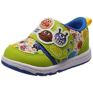 [アンパンマン] ベビー 運動靴 通学履き 靴 通園 ゆったり 軽量 マジック APM B19 グリーン 14.5 cm 2E