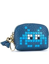 多機能大容量ジッパーゼロ財布のハンドバッグ、青