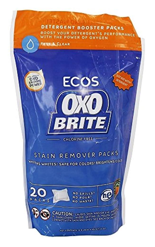 茎影響力のある補償Earth Friendly - オキソBriteの酸素及び酵素の洗濯のブスターのポッド - 20 ポーチ