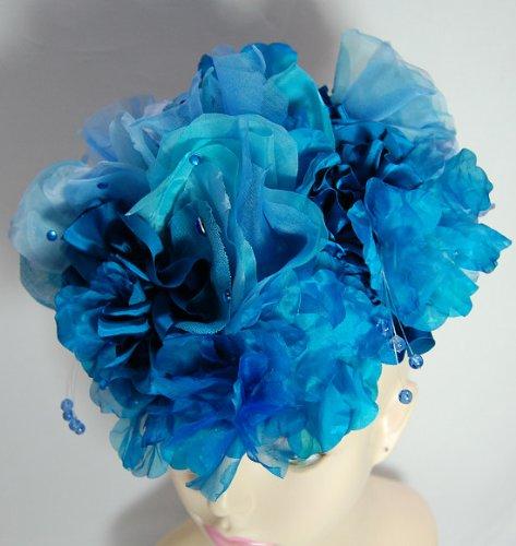 WAGANSE(ワガンセ) ヘッドドレス - Sky Blue Flowers