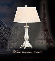 royal-european Luxuryテーブルランプクリエイティブレトロシルバーファッションミラーライトリビングルームベッドルームベッドサイドランプ