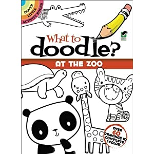Dover Publications-What To Doodle? At The Zoo by None [並行輸入品]