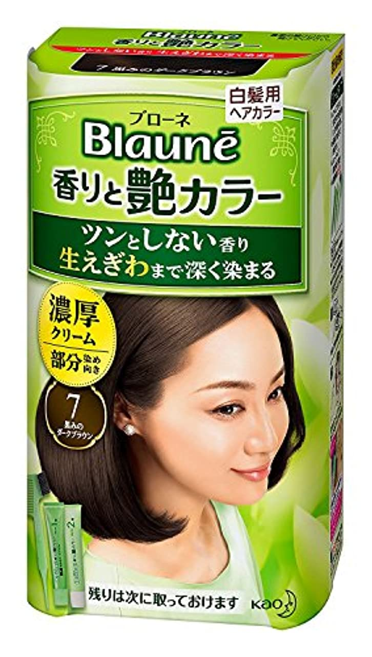 プリーツ良い小さい【花王】ブローネ香りと艶カラークリーム 7 80g ×10個セット