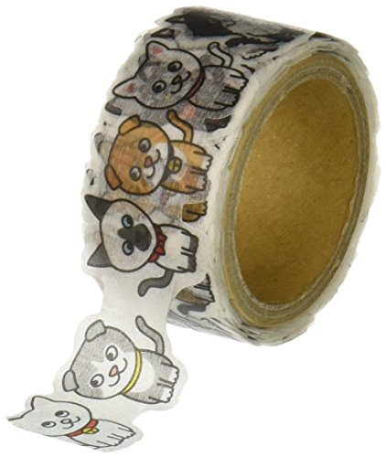 RT-MK  ラウンドトップ 型抜き マスキングテープ 日本製 20mm*5m shaped masking tape (3 猫)