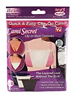 Cami Secret Clip On Mock Camisoles Neutrals (3 Pack) by Cami Secret