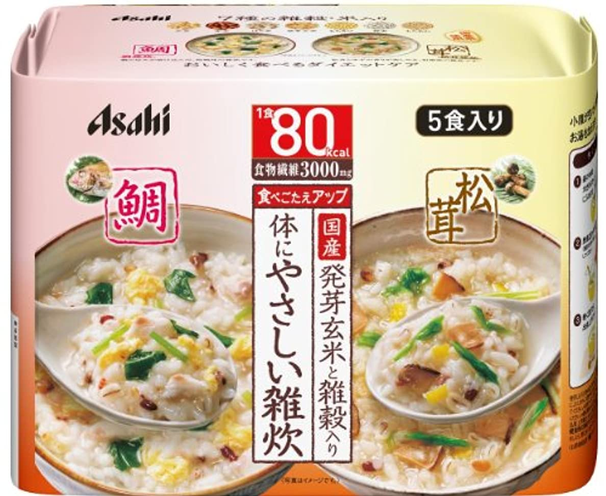 習熟度デザート池リセットボディ 体にやさしい鯛&松茸雑炊 5食入