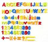 McHo 知育玩具 冷蔵庫用マグネット 磁石 英語 数字 マグネット アルファベット おもちゃ 冷蔵庫用知育玩具 マグネット 磁石 72ピース - Best Reviews Guide