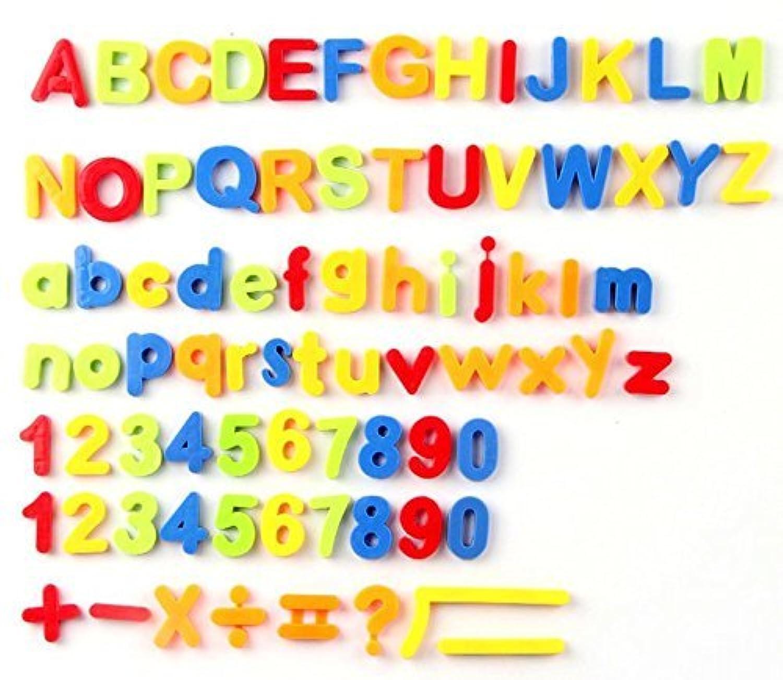 磁気文字と数字、教育アルファベット冷蔵庫磁石プレミアム品質ABC 123カラフルなアルファベットマグネットBest Educational Toy for Preschool Learning、スペル、Counting – 75 Pieces