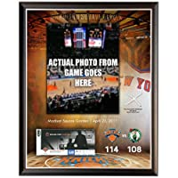 NBA New York Knicks 2011 PlayoffチケットRedemption 14 x 20コラージュwith Game Used Net