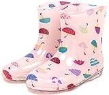 (モンフレール) Mon Frere ベビー キッズ レインブーツ 子供靴 男女兼用 長靴 雨靴 かさピンク 14.0