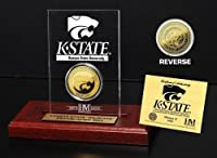 """NCAA Kansas State Wildcats Etchedアクリルコイン、9"""" x 7"""" x 2cm、ゴールド"""
