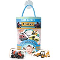 Innovative Kids Soft Shapes Photography Tub Stickables Trucks Playset