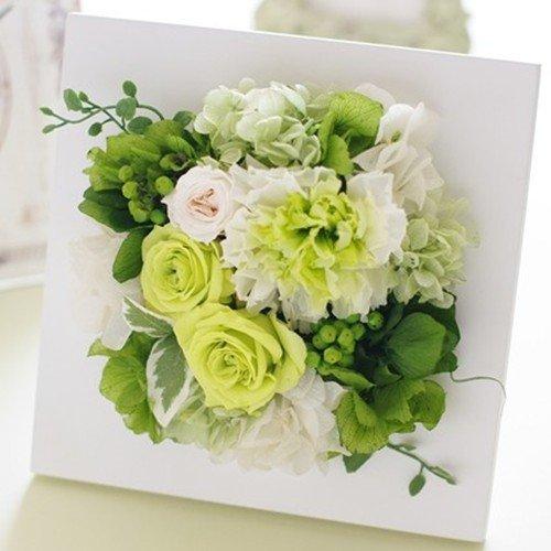 Eclaire flower design プリザーブドフラワー フレームインテリアグリーン