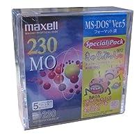 maxell 230MB 3.5インチMOディスク プラスチックケース入り5枚パック MA-M230.DOS.A 5P