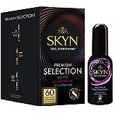 SKYN PREMIUM SELECTION Non Latex Condoms & Lube Bundle - Pack of 60 Condoms + 1 80 Ml Max Performance Lube