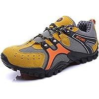 (ビーホワイ)登山靴 軽量 防水トレッキングシューズ ハイキング アウトドアシューズ 滑りにくい スニーカー 遠足 カジュアル オシャレ