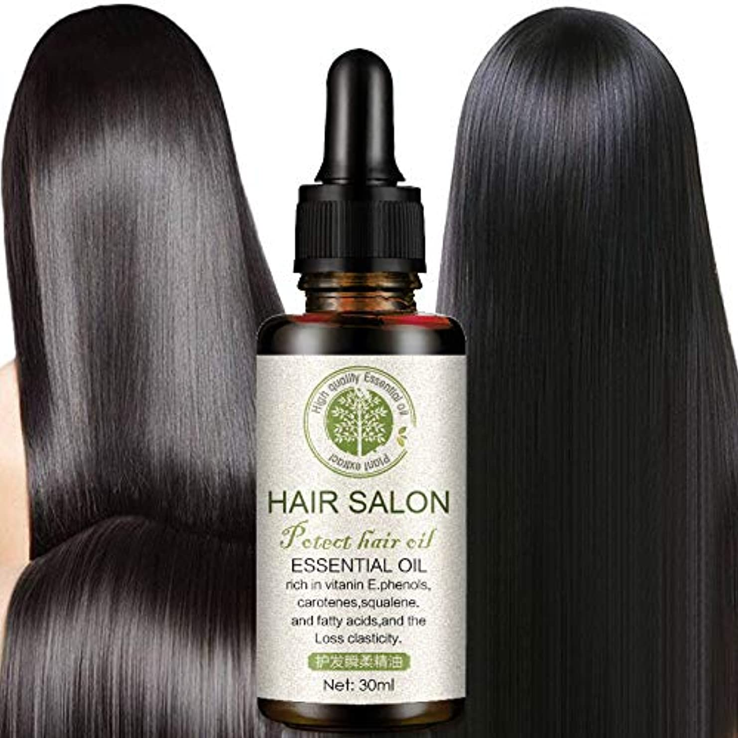 毒液フォーカス特異性Symboat ヘアケアエッセンシャルオイル 乾燥した 傷んだ髪 修復 頭皮治療 洗わない やわらか なめらか しなやかさ 栄養補給 保湿