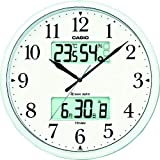 カシオ 温度・湿度計、夜見えライト付き生活環境お知らせ掛時計 パールシルバー ITM-660NJ-8JF