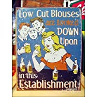 アメリカンブリキ看板 ビアホール Low Cut Blouses (Schonberg Sign Art)