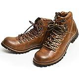 ZEENO(ジーノ) マウンテンブーツ トレッキング ブーツ シューズ サイドジップ メンズ 靴 替え紐付き