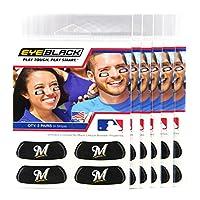 ( 24Strips ) Eyeブラック–Milwaukee Brewers MLB EyeブラックAnti Glare Strips , Great forファンon選手& Game Day