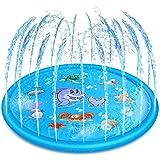 噴水マット 噴水プール 水遊び 夏 可愛いおもちゃ プール噴水  プール子供用 キッズ 夏対策 親子遊び芝生遊び  庭遊び  アウトドア プレイマットPVC 折り畳み 持ち運び便利 170cm