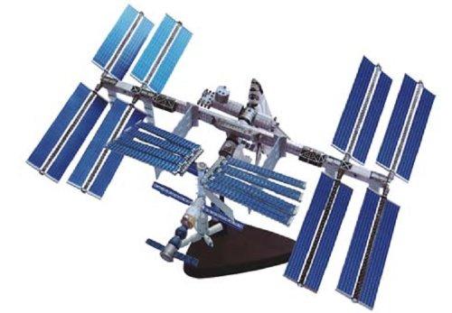 青島文化教材社 スカイネット 立体パズル 4Dパズル 国際宇宙ステーション&スペースシャトル