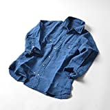 シップス ジェット ブルー(SHIPS JET BLUE) SHIPS JET BLUE: インディゴ リネン ウェスタンシャツ 7スリーブ【ネイビー/MIDIUM】