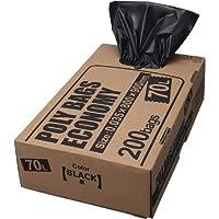 オルディ ポリバッグエコノミー70L黒BOX200枚×2