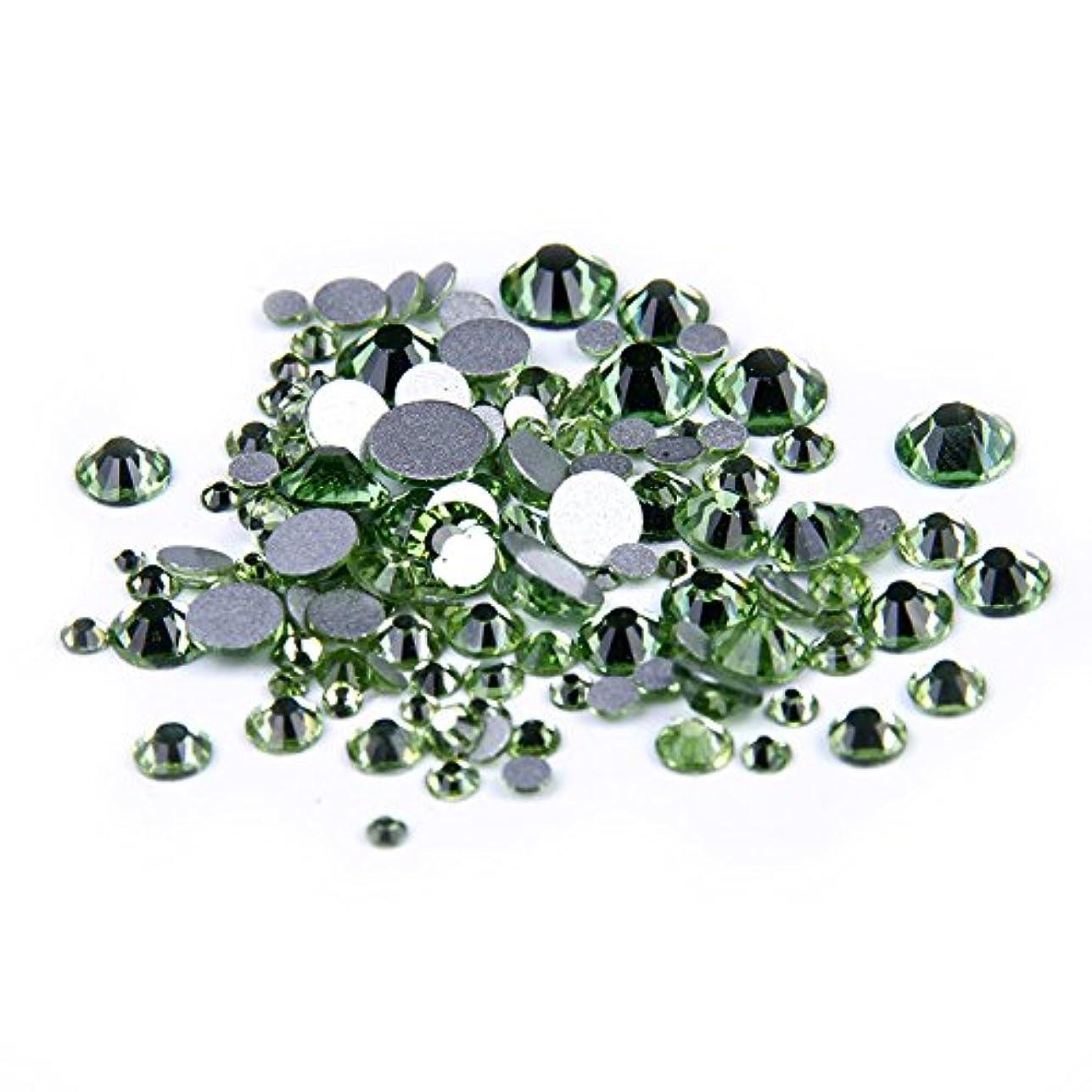 面倒まだ岩Nizi ジュエリー ブランド ペリドット ラインストーン は ガラスの材質 ネイル使用 型番ss3-ss34 (SS16 1440pcs)