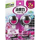 クルマの消臭力 クリップタイプ 消臭芳香剤 車用 フローラルの香り 2個セット