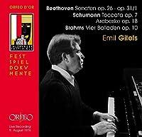 Beethoven; Schumann; Brahms: Sonaten; Toccata; Arabeske; Vier Balladen by Emil Gilels (2013-11-19)