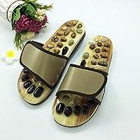 Magnet Slippers Indoor Health Imitation Jade Massage Shoes Men Black Slides Home Flat Sandals Outdoor Flip Flops for Woman and Men's,Green,37/38