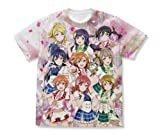ラブライブ! μ's フルグラフィックTシャツ ホワイト XLサイズ