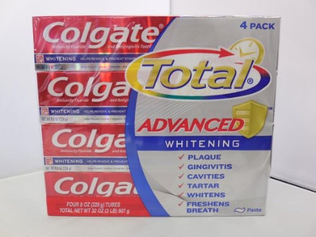とにかく下向き別々にコルゲートトータル高度なホワイトニング歯磨き粉 226g x 4個パック