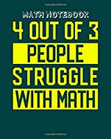 Math Notebook: math teacher only because badass - 50 sheets, 100 pages - 8 x 10 inches