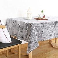 洗えるテーブルクロス テーブルクロス牧歌的な木材とリネンシミュレーション樹皮新鮮なテーブルクロス (サイズ : 65*65cm)
