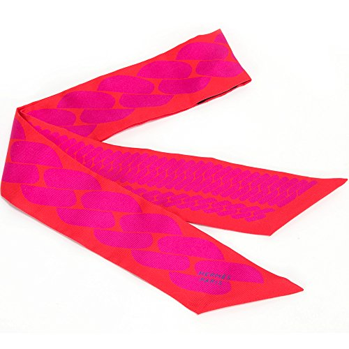 エルメス HERMES スカーフ レディース シルク バッグスカーフ バッグリボン グレナディン/フューシャ H062917S 12 [並行輸入品]