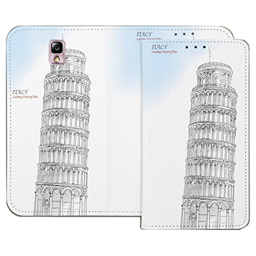 Galaxy S4 / ギャラクシー S4 (SC-04E) 対応 ケース Pen World Flip Wallet スケッチ世界 フリップ ウォーレット ケース スマホ カバー Italy / イタリア