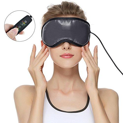 目元マッサージャー ホットアイマスク 2018アイマスク アイマッサージャー 目元美顔器 3モード ストレス解消 USB充電式 温め機能 電熱式 ラベンダーのつぼみ