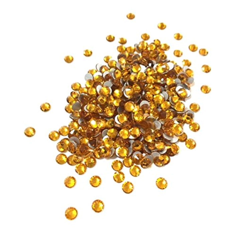 測定洞察力致命的な【ネイルウーマン】最高品質ガラスストーン!スワロ同等の輝き! トパーズ 黄色 イエロー (約100粒入り) (SS5, トパーズ)